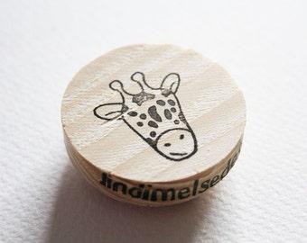 Giraffe head stamp
