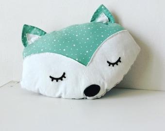 Mint Fox pillow