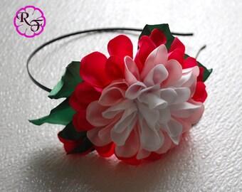 Kanzashi flowers ,pink flowers Headband , Kanzashi Headband , Ribbon flowers