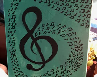 Music Notes Painting