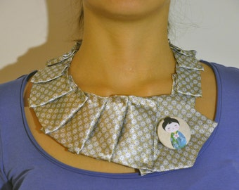 "Tie necklace with the button ""giapponesina"""