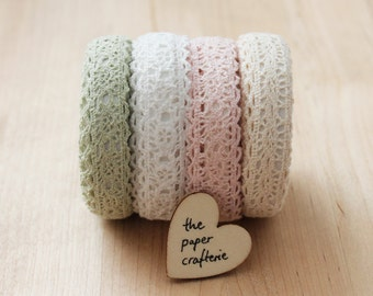 Lace Fabric Sticky Tape Adhesive Card Making Craft Scrapbooking Gift Wrap