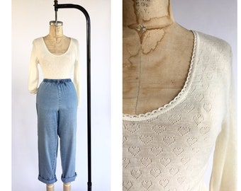 1970's Wool Blend Tricot Knit Thermal Undershirt