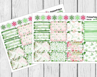 St Patrick's Day Decorative Half Box Planner Stickers PS453B