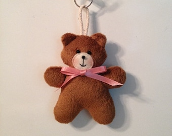Fabric Teddy Bear keychain, ornament, accessory