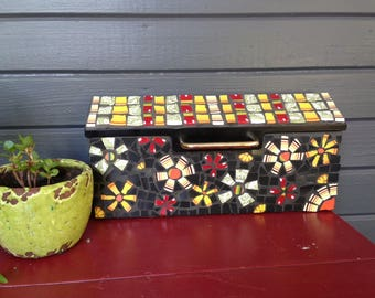 Mosaic Letterbox Mailbox - Broken China Mosaic Letter Box- Made to Order