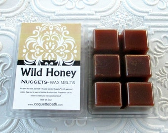 Wild Honey Wax melts, Nuggets, strong paraffin wax tarts, candy scented paraffin wax