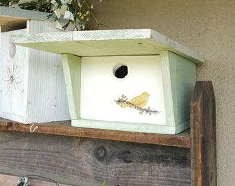 Modern wooden birdhouse,handmade,outdoor birdhouse,fathers day gift,garden decor,unique,outdoor bird house,mid century modern,gardeners gift