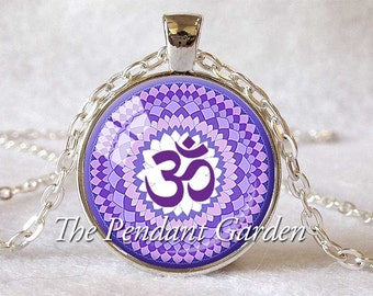 CROWN CHAKRA PENDANT 7th Chakra Spiritual Jewelry Chakra Necklace Yoga Jewelry Yoga Necklace Meditation Pendant Om Pendant
