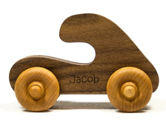 Wooden Toy Car Personalized Push Toy Wooden Children's Car