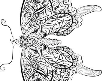 Butterfly  Instant download to print and colour