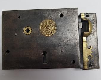 Huge Antique Carpenter Rim Lock