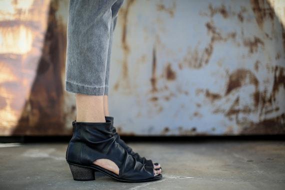 Heels Sandals Slouch Laticia Handmade Summer Black Leather High Heels Sandals Black Shoes Sandals SALE Sandals Sandals Sandals 0qU7aw
