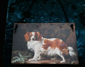 Cavalier King Charles Spaniel Wood Plaque/Sign/Decor/George Stubbs