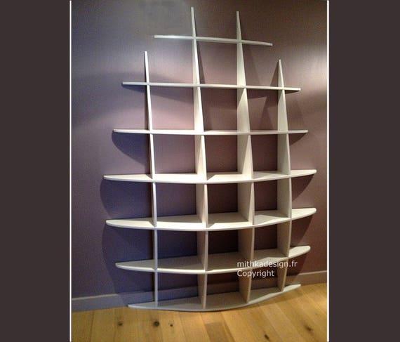 biblioth que murale design fixations invisibles haute2. Black Bedroom Furniture Sets. Home Design Ideas