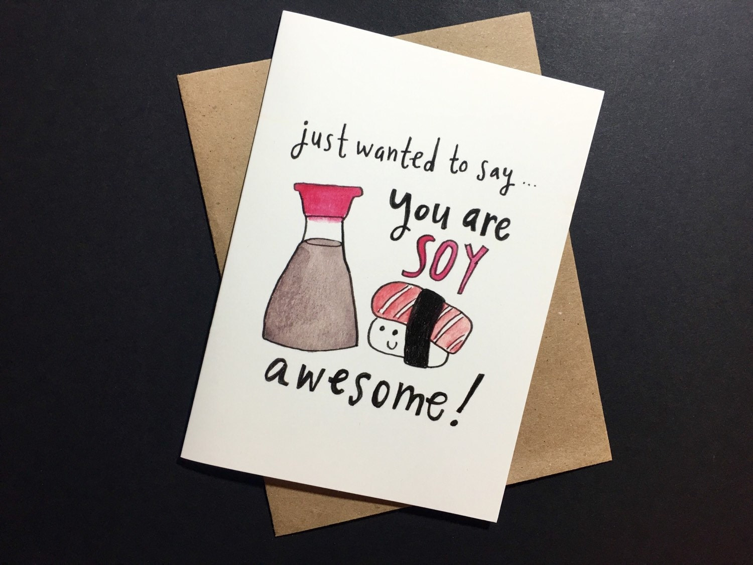 Cute and pun ny soy sauce valentines day card for sushi zoom kristyandbryce Choice Image