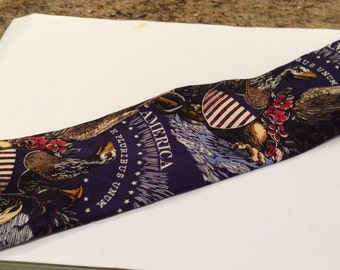 Memorial Day and July Fourth Independence Day Tie