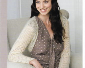 Ladies Lacy Shrug Knitting Pattern.