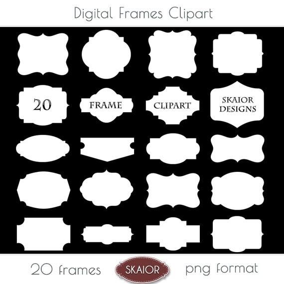 White Frame Clipart Frames Clip Art Border Label Digital Frames ...