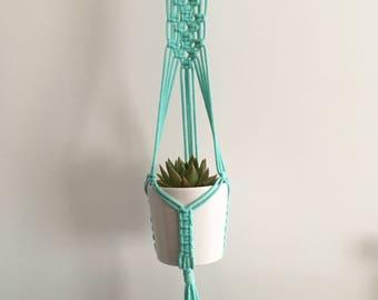 Mint Green Macrame Plant Hanger