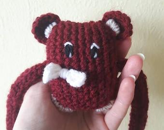 Plush Monster toy child crochet blanket