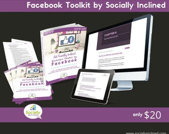 Facebook Training - Social Media Marketing Training - Build Your Business With Facebook Toolkit - 55 pg training, 14 pg Workbook, and more.