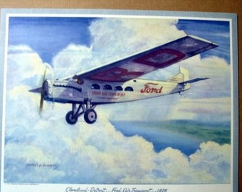 1926 Ford Air Transport Stout Early Plane Pullman Prop