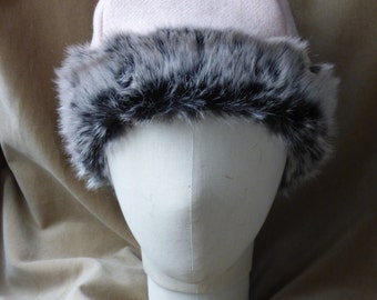 SALES! Ready to ship - wool and fur hat for women