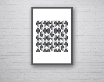 Pace - A2 Geometric Poster Op Art Retro Vintage Inspired Print 60s 70s style