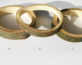 SALE Branch bracelet // Plataan wood, 63 - 65 mm / 2.44 - 2.56 inch, small/medium