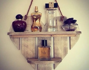 Hanging Heart Perfume Shelf.