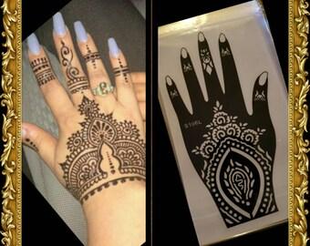 Henna Tattoo Jamaica : Henna stencil etsy