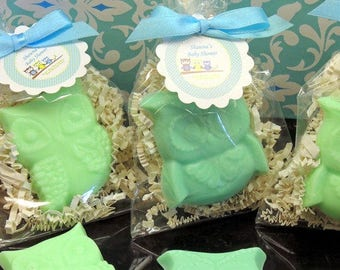 10 OWL Soap Favors Owl Soaps Birthday Baby Shower Bridal Shower