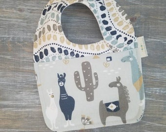 NEW item: Infant Drool Bib- Llama Llama