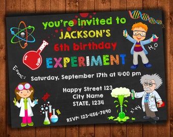 Science invitation Etsy