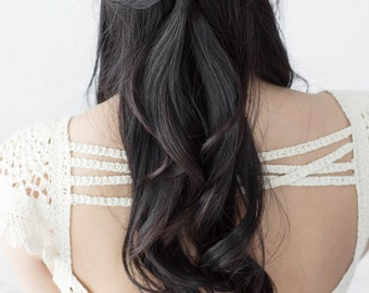 JESSAMINE Beaded Bridal Comb, Ivory Floral Wedding Comb (#310)