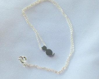 Handmade Tiny Cat Necklace