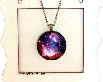 Science Solar System Nebula Necklace - Universe Outer Space