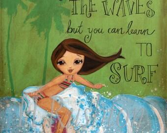 Surf Art, Surf Decor, Beach Decor, Surfer Girl, Beach Art, Kids Wall Art, Print Sizes 5x7 or 8x10by HRushton