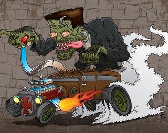 Frankenstein 6x8 Print