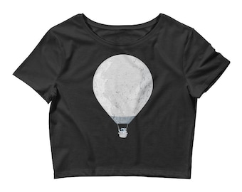 Moon Balloon Women's Crop Tee