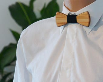 Wooden Bow Tie - Olive - Wedding bow tie - Special moments