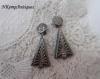 Vintage earrings 1930's clip ons