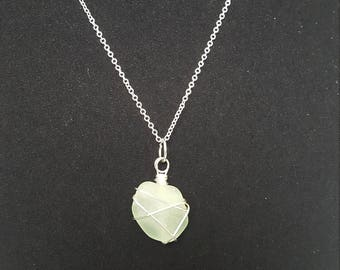 Gorgeous Pale Green Sea-glass Pendant