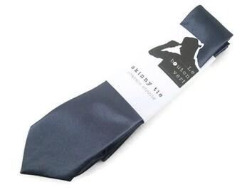 Dark Grey skinny tie
