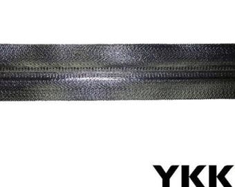 YKK AquaGuard® Continuous Water Repellent Zipper Chain #10 Black Fully waterproof. Black Large industrial zipper Sold By the yard.