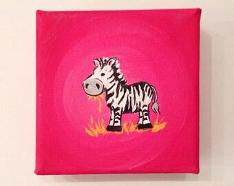 Tiny Zebra Painting