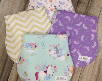 Burp Cloths Baby Shower Gift Personalized Burp Cloths Burping Baby Gift Baby Burp Cloth Unicorn Burp Cloth Burp Rags Baby Burp Clothes