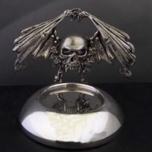 Pewter Winged Death Tea Light Holder