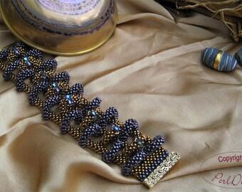 "Deutsch-Tutorial Bracelet ""Crown"" (PDF) - Armband"